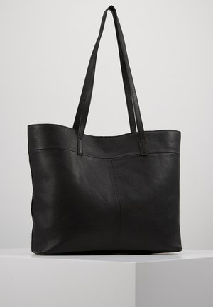 LEATHER - SHOPPING BAG / POUCH SET - Tote bag - black