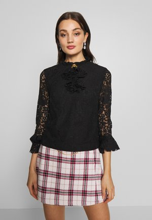 QUEEN BEE BLOUSE - Button-down blouse - black