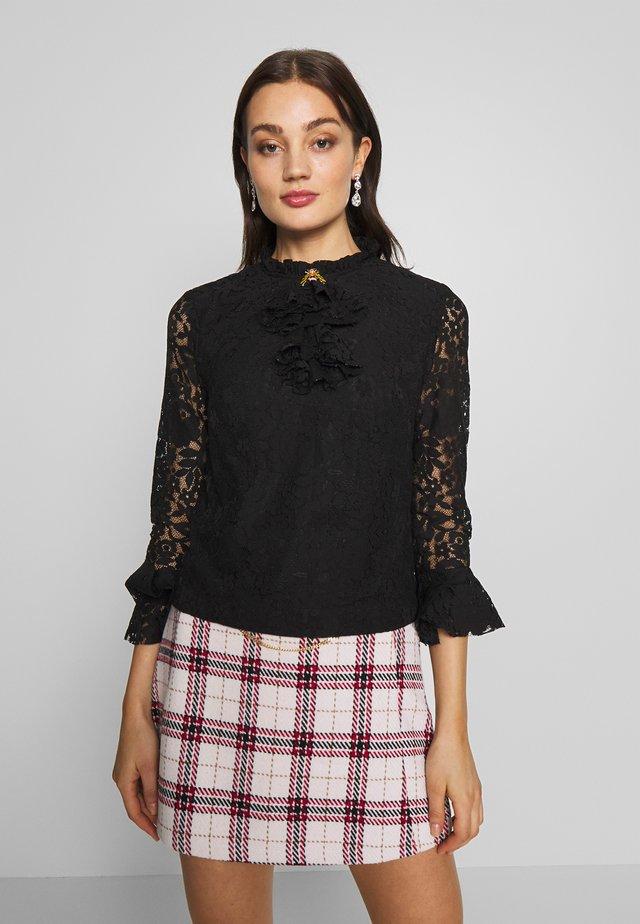 QUEEN BEE BLOUSE - Button-down blouse - black