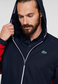 Lacoste Sport - Training jacket - navy blue/red/navy blue/white - 3
