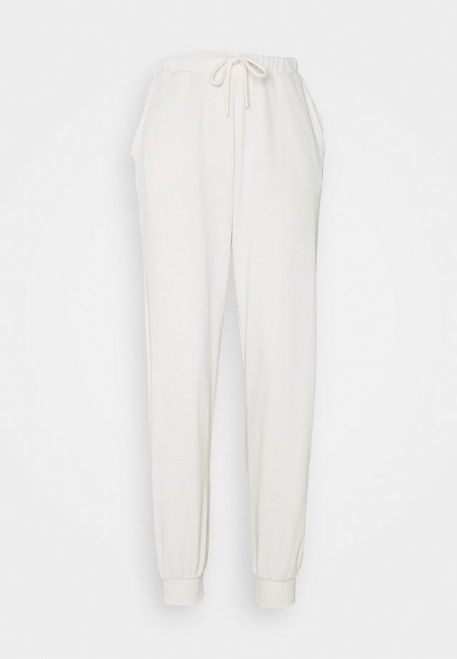 HIGH WAIST JOGGERS - Tracksuit bottoms - beige