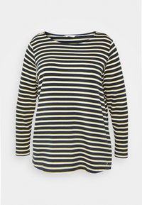MY TRUE ME TOM TAILOR - Long sleeved top - navy yellow white stripe - 4