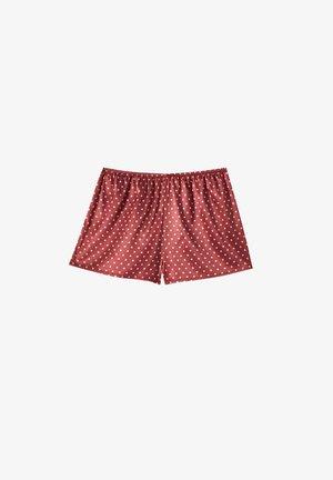 MIT TUPFEN - Pyjama bottoms - bordeaux