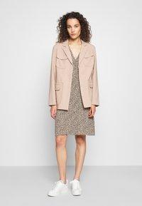 Modström - EMILY PRINT DRESS - Day dress - light brown - 1