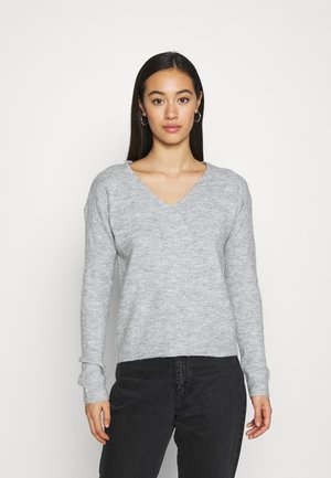 PCPERLA - Neule - light grey melange