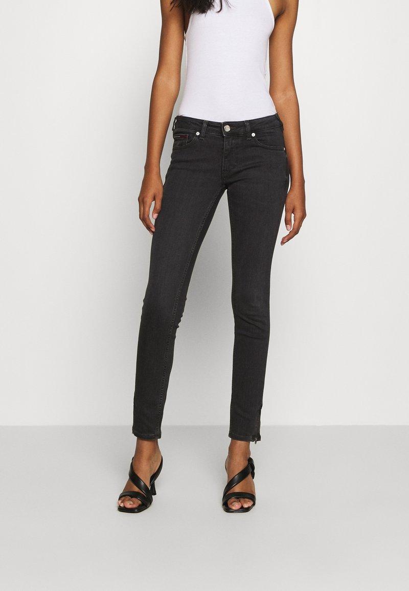 Tommy Jeans - SOPHIE ANKLE ZIP  - Jeans Skinny Fit - bird black