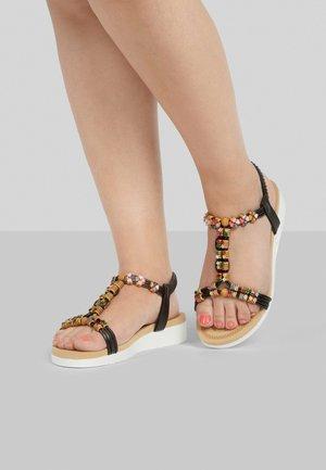 Sandals - schwarz-multicolor