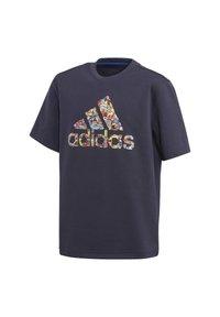 adidas Performance - CLEOFUS T-SHIRT - Print T-shirt - blue - 0