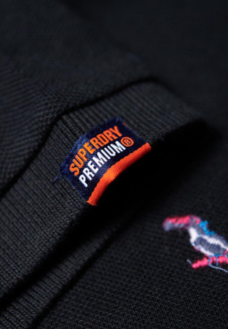 Niedrogi Gorąca wyprzedaż Superdry Koszulka polo - black   Odzież męska 2020 EL1l3