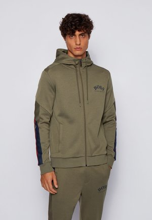 SAGGY - Zip-up hoodie - dark green