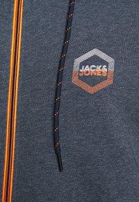 Jack & Jones - JJDELIGHT ZIP HOOD - Felpa aperta - navy blazer melange - 5