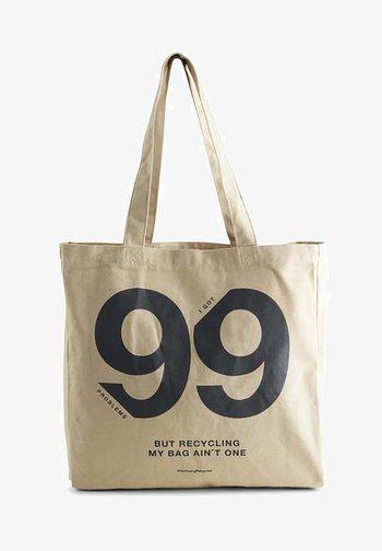 ISIDORAMBG - Tote bag - beige blackprint