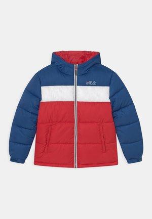 LUI PUFFER UNISEX - Winter jacket - true red/limoges/bright white