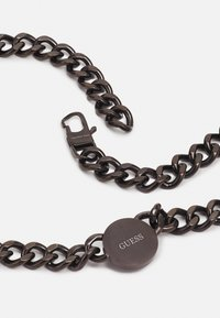 Guess - LION COIN CHAIN NECKLACE UNISEX - Necklace - gunmetal - 1