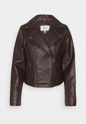 BYCROCO BIKER JACKET  - Faux leather jacket - chicory coffee