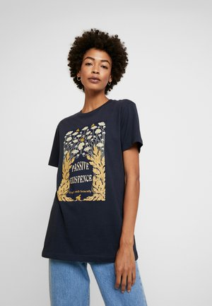 LADIES EXISTANCE TEE - T-shirt con stampa - navy