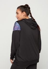 Active by Zizzi - MIT PRINTDETAILS - Training jacket - black - 2
