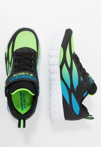 Skechers - FLEX-GLOW - Tenisky - black/blue/lime - 1