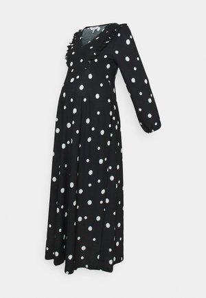 FOCHETTE MIDI DRESS - Jersey dress - black