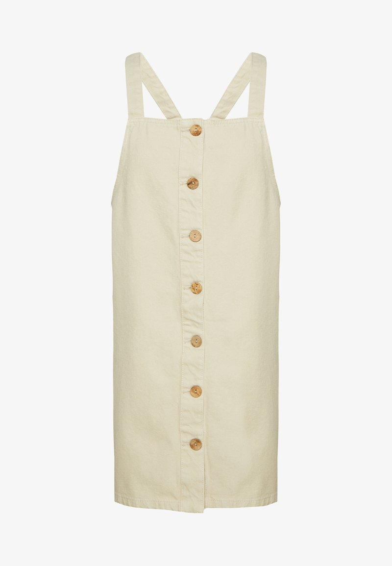 Pieces Petite - PCASLI COLORED PINAFORE DRESS - Dongerikjole - almond milk
