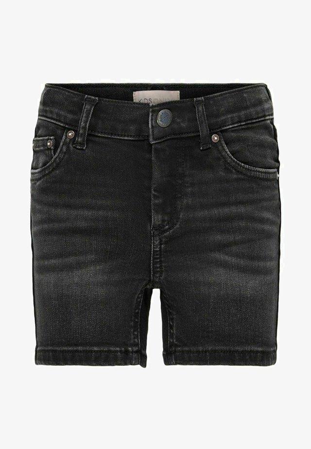 Denim shorts - black denim