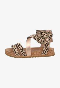 sand pixie leopard/rose gold dyecut