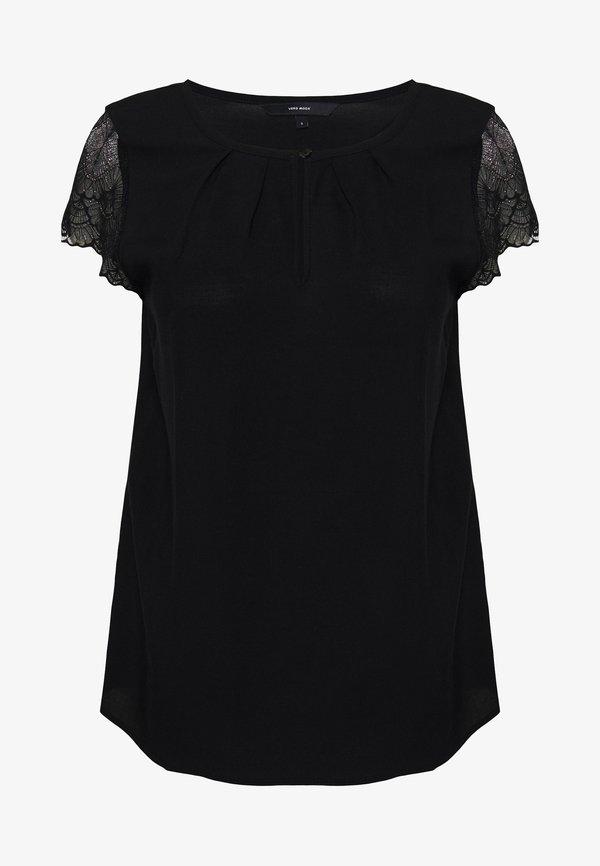Vero Moda VMNINA - Bluzka - black/czarny SZZF