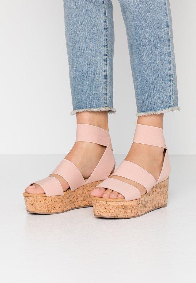 KEASHA - Platform sandals - blush