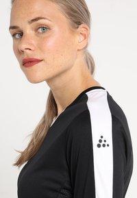 Craft - PROGRESS CONTRAST - Camiseta de deporte - black/white - 6