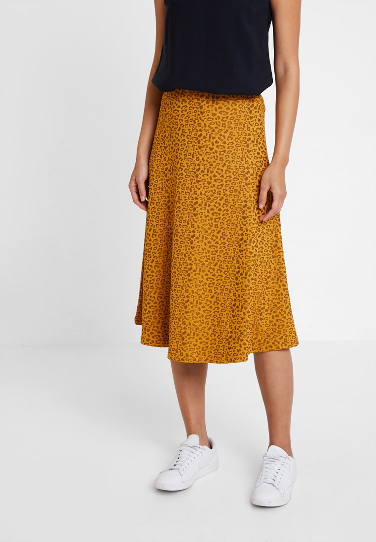 KIOMI - A-line skirt - orange/black