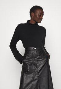 Lovechild - GIOVANNI SKIRT - A-line skirt - black - 3