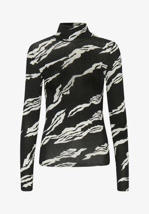 Long sleeved top - black scratch