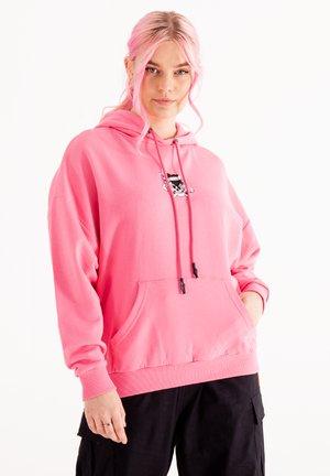 SKULL LOVE - Hoodie - blush pink