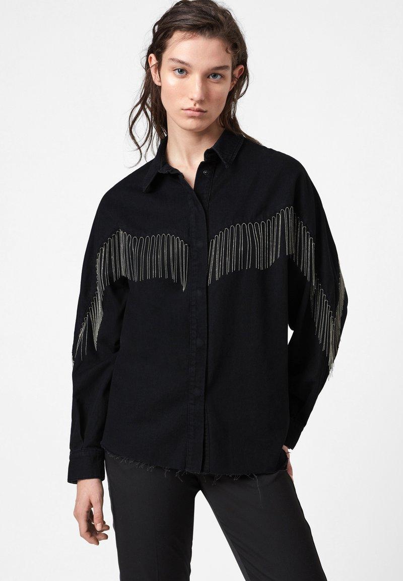 AllSaints - SANDRA JAINE  - Button-down blouse - black