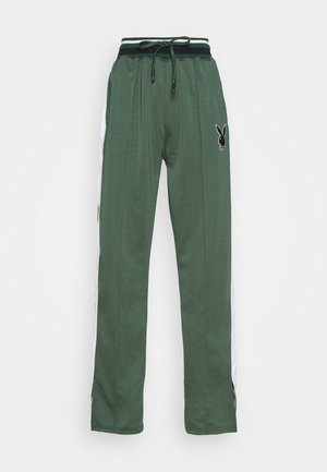 PLAYBOY VARSITY WIDE LEG TRICOT PANTS - Tracksuit bottoms - green