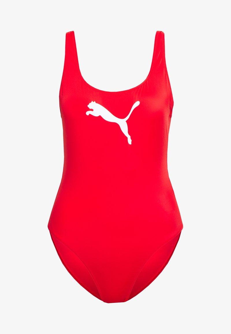 Puma - SWIM WOMEN SWIMSUIT - Swimsuit - red