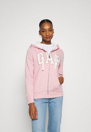 Zip-up hoodie - pink standard