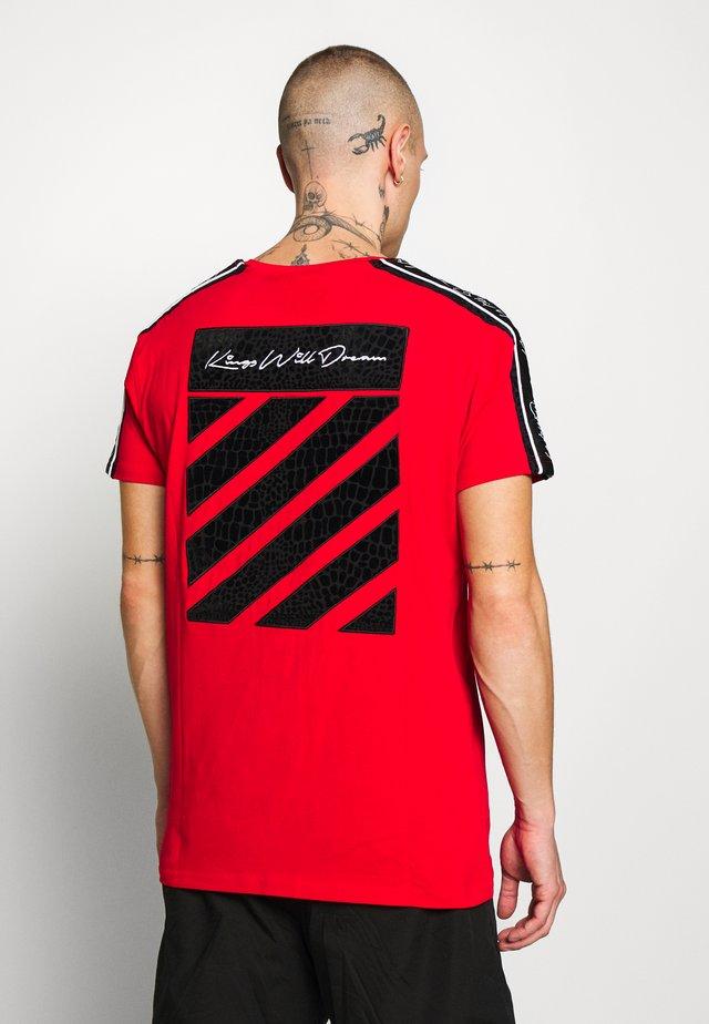 CAWDON - Print T-shirt - red