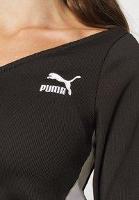 Puma - CLASSICS LONGSLEEVE CROPPED - Long sleeved top - black - 5