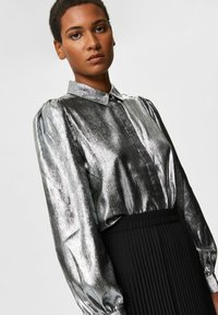 Selected Femme - Button-down blouse - silver - 3