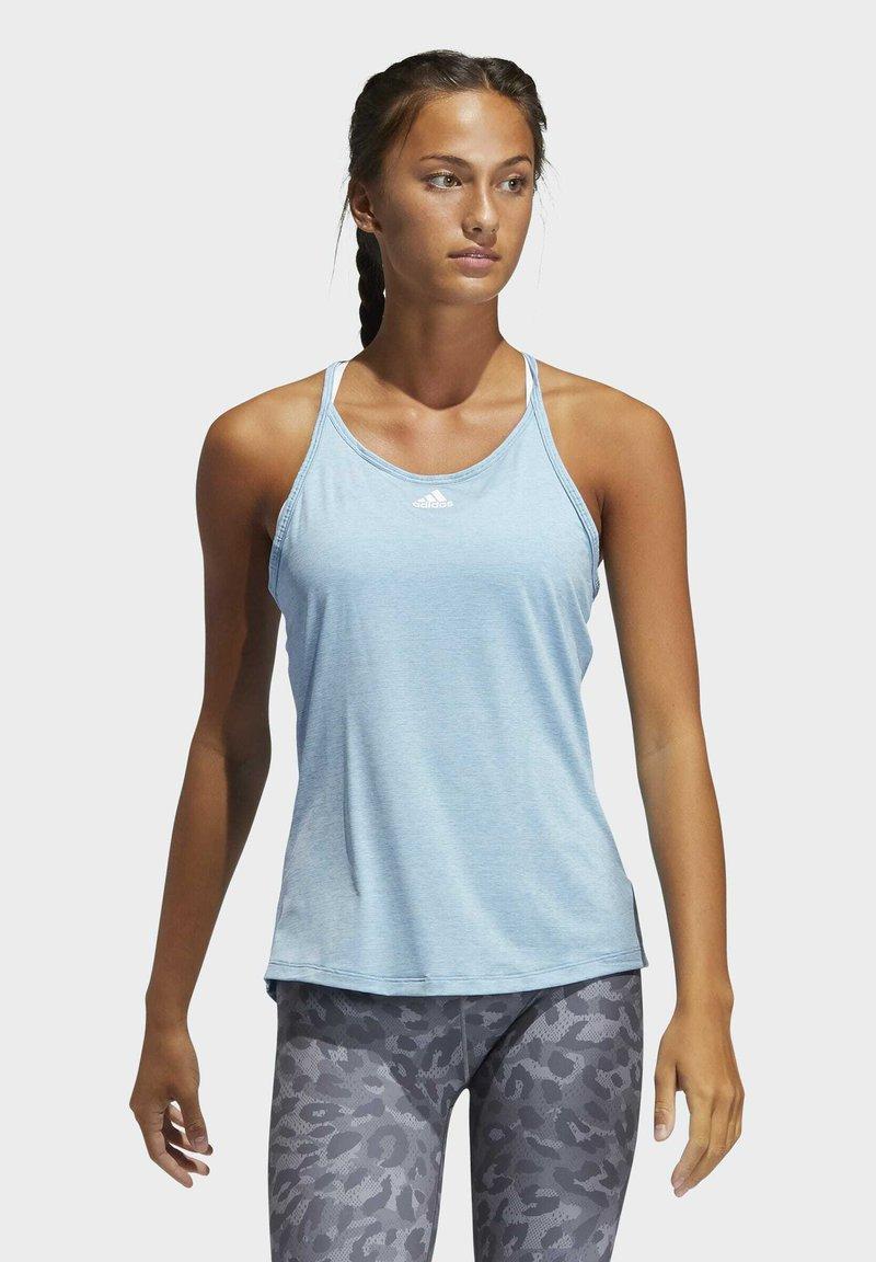 adidas Performance - PERFORMANCE TANK TOP - Camiseta de deporte - blue