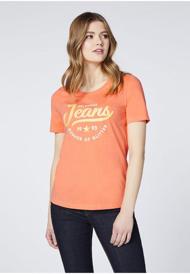 Print T-shirt - melon