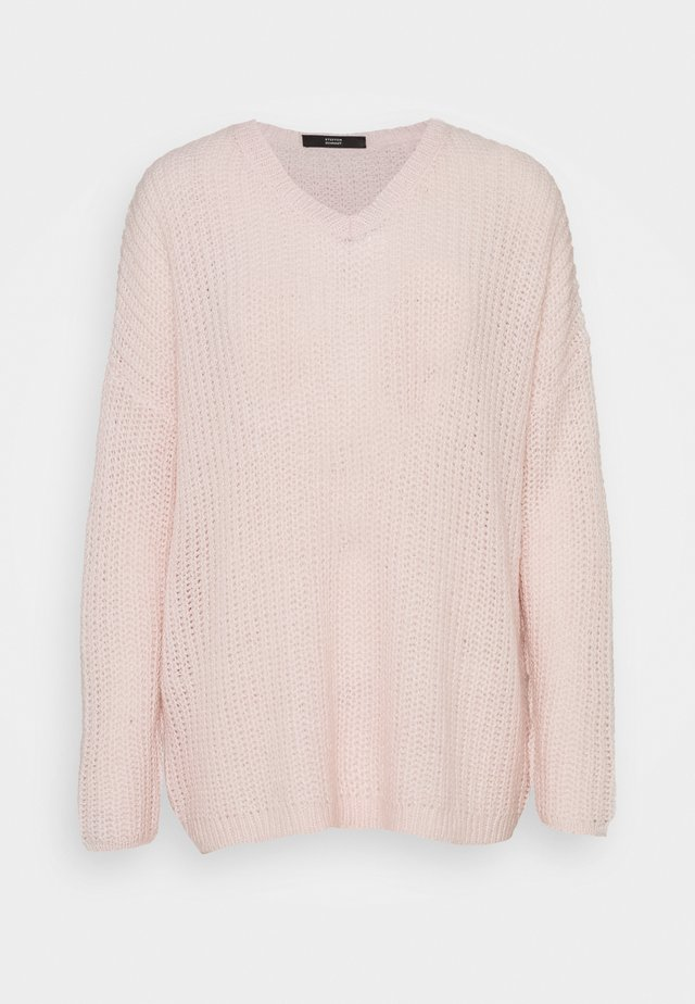 MALIBU V-NECK BEACH  - Sweter - soft rose