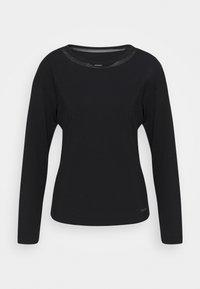 Calvin Klein Underwear - PERFECTLY FIT FLEX WIDE NECK - Pyjama top - black - 3