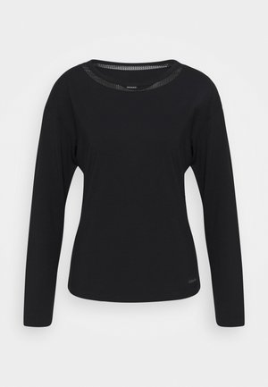 PERFECTLY FIT FLEX WIDE NECK - Pyjama top - black