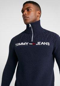 Tommy Jeans - TEXTURED MOCK  - Jumper - black iris - 3