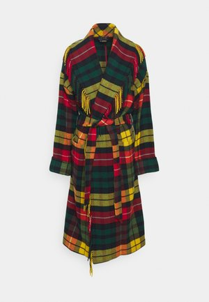 COAT - Classic coat - red/yellow