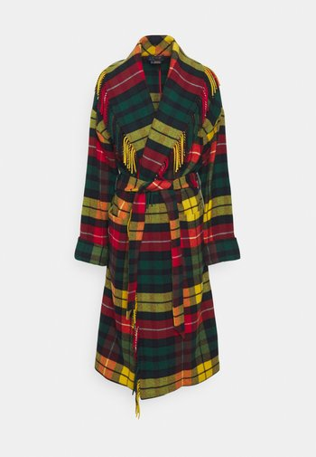 COAT - Klasický kabát - red/yellow