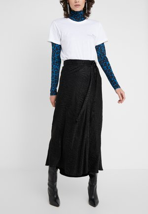 RUBY WRAP SKIRT - A-line skjørt - black