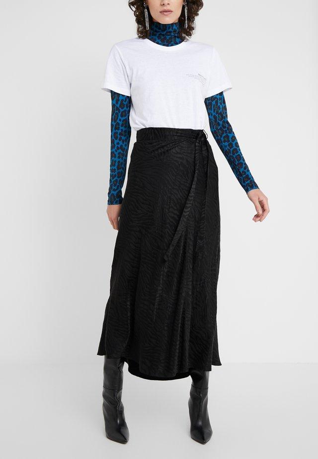 RUBY WRAP SKIRT - Spódnica trapezowa - black